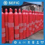 Cylindre de CO2 de 68L 150bar 45kg utilisé pour le système d'incendie