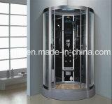 Sauna à vapeur de coin gris de 1100 mm avec douche (AT-D0206)