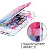 caixa colorida de Kickstand da cinta da mão do projeto da tampa de couro do iPhone 7