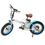 L 350W E-Fahrrad LCD-Spiel-Platte-Bremsen-elektrischer Fahrrad-Lithium-Batterie-schwanzloser Bewegungsfetter Gummireifen Floding elektrisches Fahrrad mit Zustimmung en-15194