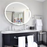 イギリスのホテルの浴室のIP44によって評価される接触スイッチ照明ミラー