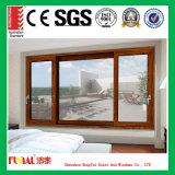 6 mm y 8 mm de vidrio- aluminio ventana deslizante
