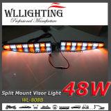 Luz de advertência de visor de diodo emissor de luz de 48W com montagem dividida