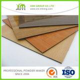 Poudre de finition d'enduit des graines en bois en bois d'effet appliquée par procédé de transfert thermique