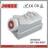 IP67 5p 16A Contactdoos met Schakelaars en Mechanische Koppeling