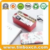 Double-Deck Metallzinn-Kasten für Bleistift-Kasten-Briefpapier-Behälter