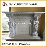 백색 대리석 조각품 벽난로 돌 벽로선반