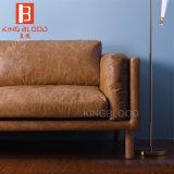 Amerika-Art-Oberseite-Korn-echtes Leder-Ausgangssofa-Möbel