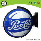 Outdoor Round Acrylic Publicidade Rotating Beer Light Box