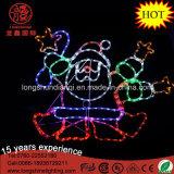 Het LEIDENE 90cm Dansen van het Silhouet Lichten van Kerstmis van het Motief van de Kabel van de Kerstman de Lichte voor de Decoratie van Kerstmis