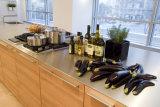 Moderno retirar o gabinete de cozinha com cesta do armazenamento