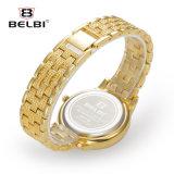 Relógio impermeável ocasional simples de quartzo da cinta do aço inoxidável de relógio de senhoras da forma elevada de Belbi