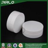 3G 10g 30g50g 100g doppel-wandige weiße Farben-Haut-Sorgfalt-Sahne-Plastikgläser mit Zwischenlage und Schutzkappe