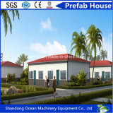 Montagem rápida de longa duração Casa pré-fabricada de estrutura de aço Material de construção com isolamento térmico