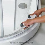 Ливня ванной комнаты профиля раздвижной двери Tempered стекла перегородка алюминиевого стеклянная