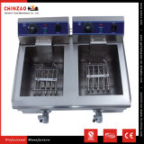 Friteuse à immersion électrique commerciale d'acier inoxydable du double réservoir 10L