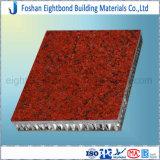 Panneaux de marbre de nid d'abeilles de pierre de granit de matériaux de construction pour des façades de mur