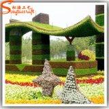 Usine artificielle de buis de jardin de haie de buis de décoration d'horizontal