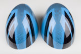 真新しいABS小型たる製造人R56-R61のための高品質カーボンミラーカバーとのプラスチック紫外線保護されたスポーティな様式の青い英国国旗カラー