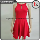 Neuestes Form-reizvolles rotes Maxi Großhandelskleid-Sleeveless süsses Hemd des China-Lieferanten-2017