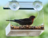 Crystal Clear Acrylic Window Bird Feeder Clear Window