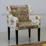 نمو وقت فراغ كرسي ذو ذراعين مع مختلفة يطبع تصميم على نجادة ([سب-هك473])