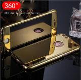 Nuevo estilo de enchapado caso de teléfono espejo para el iPhone 6s 7plus 7 teléfono móvil de 360 cubiertas con protector de pantalla