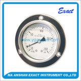 Máquina da calibração com o calibre de pressão enchido da flange líquido dianteiro