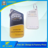 Etiqueta dominante del metal profesional de la producción con la impresión lateral doble de Cmyk (XF-KC16)