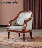 Sofà antico del tessuto con il blocco per grafici di legno per mobilia domestica