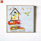 Дом типа шаржа и картина искусствоа птиц для домашнего декора