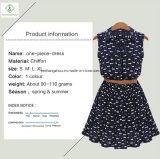 Usine occasionnelle de coton de 2017 femmes de mode de chemise de robe neuve de collier