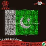 Bandiera nazionale esterna di alta qualità LED 220V Pakistan per gli indicatori luminosi della decorazione