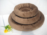 Three-Piece weiches Brown-Hundebett u. Haustier-Bett