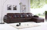ヨーロッパ式の贅沢な居間の上のグレーンレザーのソファー(HX-FZ050)