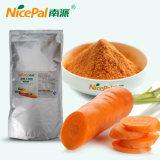 Água - fonte vegetal secada solúvel do pó da cenoura da fábrica diretamente