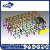Pesos claros baratos casa de aço galvanizada do Prefab da estrutura modular da vertente