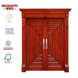 광저우 실내 양쪽으로 여닫는 문 디자인 공예가 나무 외부 문 (GSP1-021)