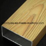Revêtement en poudre Profil d'extrusion en aluminium grain grain de bois pour la porte de fenêtre
