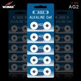 1.5V alkalische Buttion Zelle AG2/Lr726 für Uhr-Batterie