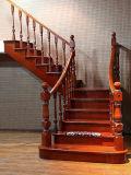 Escalier normal en bois solide de meubles de matériaux de construction de protection de l'environnement