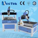 Niedrige Glasgravierfräsmaschine Kosten Akm6090 CNC-3D mit Dreheinheit