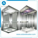 cabina del elevador del pasajero 800kg con la pared de la cabina de la aguafuerte del espejo (OS41)