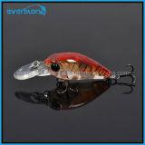 La pêche dure de mini manivelle chaude de partouzeur leurre le palan de pêche de carpe de la profondeur 1.6-2m de crochet de la Chine 35mm 3.8g Crankbait Bkk