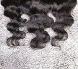 ボディ波13*4のフリースタイルの正面ブラジルのRemyの毛の完全なレースのFrontal