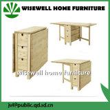 Tabela e cadeira de madeira de jantar