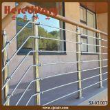 ステアケースのステンレス鋼材料(SJ-X1008)のための棒の正方形の手すり
