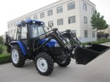 Front LoaderおよびBackhoeの50HP Farming Tractor