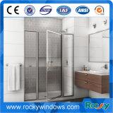 Pièce de douche en verre de salle de bains d'acier inoxydable de Frameless de modèle moderne