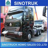 Exportación del carro de la cabeza del tractor de Sinotruk 420HP A7 6X4 a Tanzania